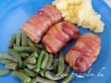 Sajtos - Sonkás - Baconös csirketekercs