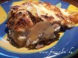Mustáros - Gombás rakott csirkemell
